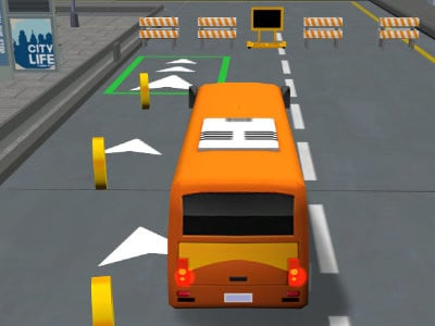Bus Parking 3D online hra