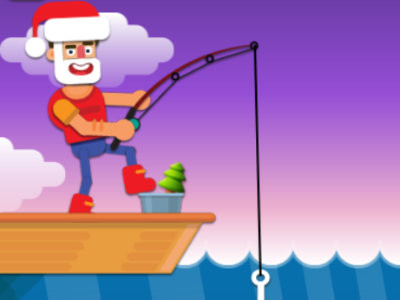 Christmas Fishing io online hra